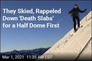 They Skied, Rappeled Down 'Death Slabs' for a Half Dome First