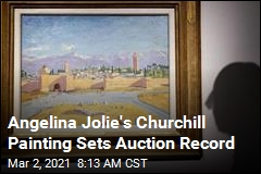 Angelina Jolie's Churchill Painting Sets Auction Record