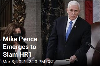 Mike Pence Emerges to Slam HR1