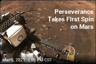 Rover Takes Test Drive on Mars Surface