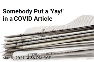 Wall Street Journal Corrects 'Yay!' Put in COVID Article