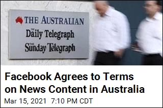 Facebook Agrees to Terms on News Content in Australia