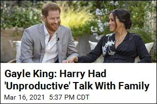 Gayle King: Harry Had 'Unproductive' Talk With Family