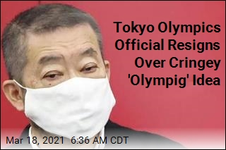 Tokyo Olympics Official Resigns Over Cringey 'Olympig' Idea