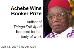 Achebe Wins Booker Prize