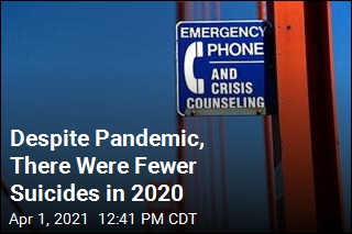 CDC Says Suicides Were Down in 2020