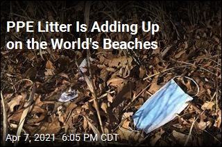 PPE Litter Is Adding Up on the World's Beaches