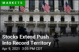 Stocks Extend Push Into Record Territory