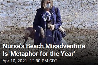 Her Beach Misadventure Is 'Metaphor for the Year'