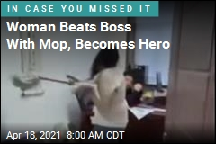 Woman Beats Boss With Mop, Becomes Hero