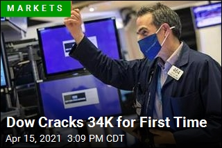 Dow Cracks 34K for First Time