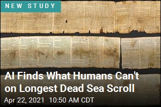 AI Finds What Humans Can't on Longest Dead Sea Scroll