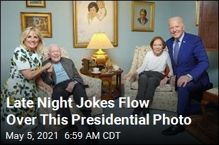 Late Night Jokes Flow Over This Presidential Photo