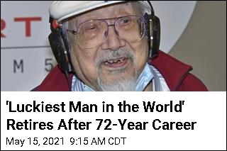 'Luckiest Man in the World' Retires After 72-Year Career