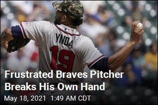 Atlanta Braves Pitcher Punches Bench, Breaks Hand