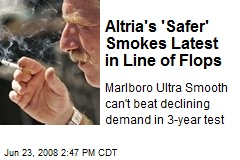 Altria's 'Safer' Smokes Latest in Line of Flops