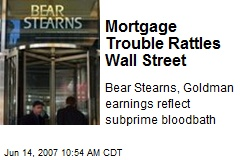 Mortgage Trouble Rattles Wall Street