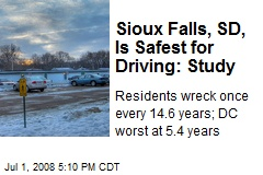 Sioux Falls, SD, Is Safest for Driving: Study