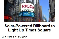 Solar-Powered Billboard to Light Up Times Square