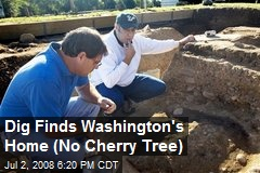 Dig Finds Washington's Home (No Cherry Tree)