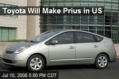Toyota Will Make Prius in US