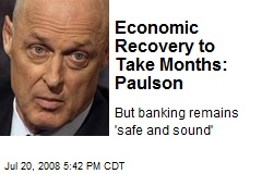 Economic Recovery to Take Months: Paulson