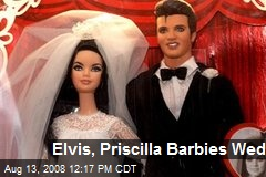 Elvis, Priscilla Barbies Wed