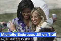 Michelle Embraces Jill on Trail