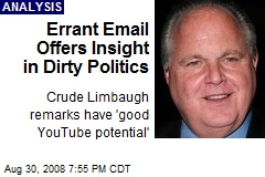 Errant Email Offers Insight in Dirty Politics