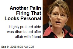 Another Palin Firing That Looks Personal