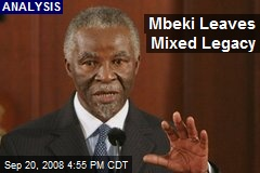 Mbeki Leaves Mixed Legacy