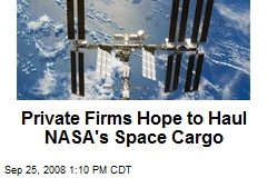 Private Firms Hope to Haul NASA's Space Cargo