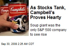As Stocks Tank, Campbell's Proves Hearty