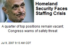 Homeland Security Faces Staffing Crisis