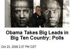 Obama Takes Big Leads in Big Ten Country: Polls