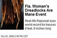 Fla. Woman's Dreadlocks Are Mane Event
