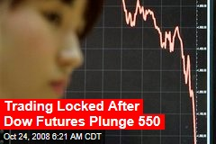 Trading Locked After Dow Futures Plunge 550