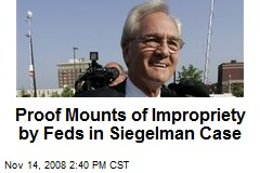 Proof Mounts of Impropriety by Feds in Siegelman Case