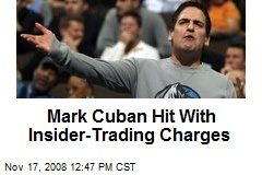 Mark Cuban Hit With Insider-Trading Charges