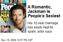 A Romantic, Jackman Is People's Sexiest