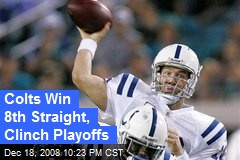 Colts Win 8th Straight, Clinch Playoffs