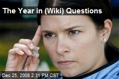 The Year in (Wiki) Questions