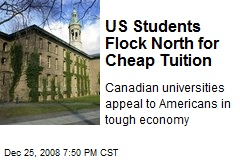 US Students Flock North for Cheap Tuition