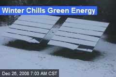 Winter Chills Green Energy