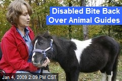 Disabled Bite Back Over Animal Guides