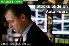 Stocks Slide on Auto Fears