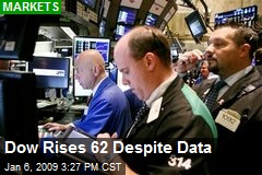 Dow Rises 62 Despite Data