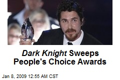 Dark Knight Sweeps People's Choice Awards