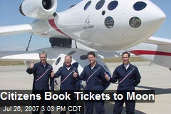 Citizens Book Tickets to Moon