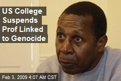 US College Suspends Prof Linked to Genocide